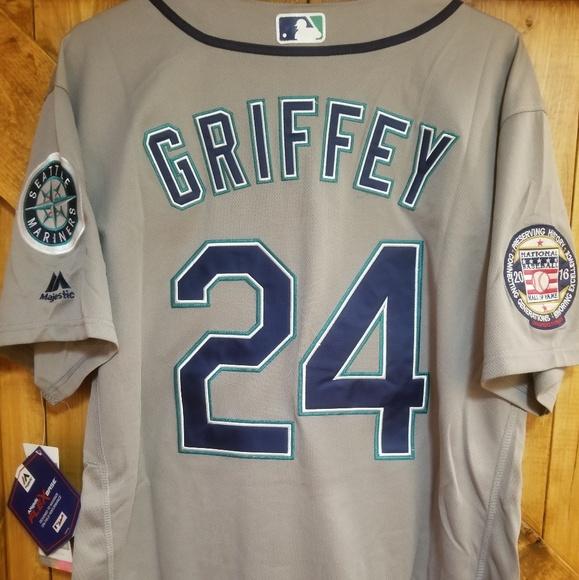 cheap for discount 05080 4019a Seattle Mariners #24 *KEN GRIFFEY JR.* Jersey *HOF NWT